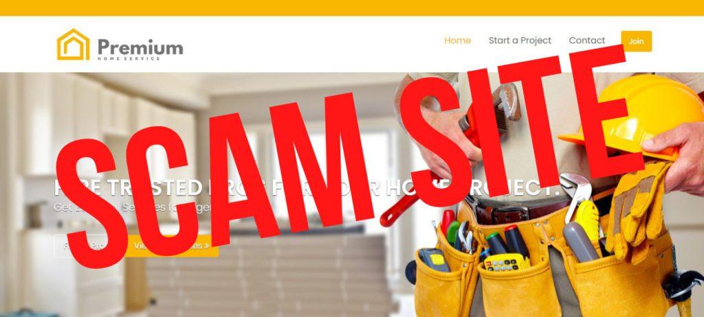 image of SCAM website